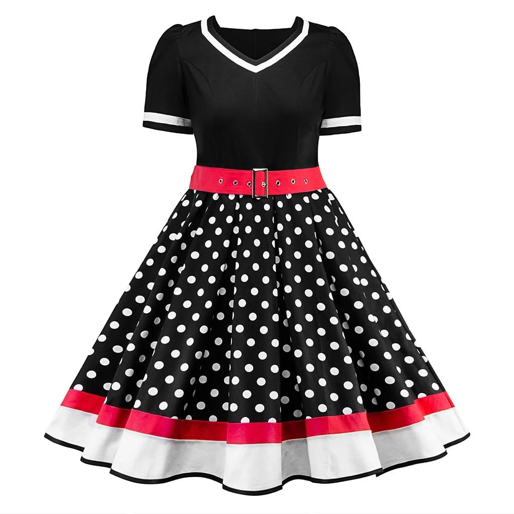 Comely 50s Fashion Dresses Plus Size