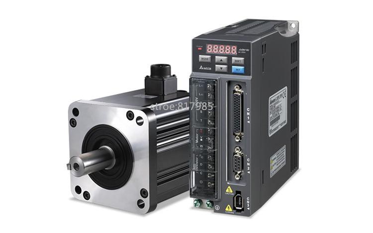 Best quality ACH09075BC servo motor+QS7AA020M servo motor driver for CNC Milling, turning ,engraving servo driver for original 6487180 servo i servo s battery module