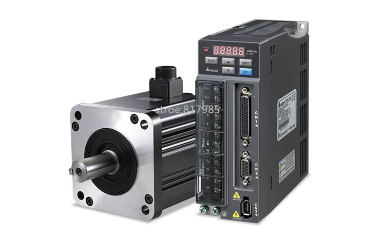 Mejor calidad ACH09075BC servo motor + QS7AA020M servo motor para CNC fresado, torneado, grabado servo conductor