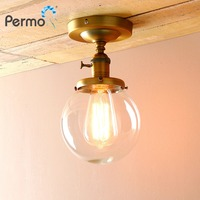 PERMO Retro Globe Glass Sconce Wall Lights Vintage E27 Wall Lamp Luminaire Light Fixtures Ceiling Wall Lamp Home Decorations