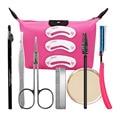 9 Pçs/set Beleza Lápis de Sobrancelha Escova de Long-lasting Eye Liner Maquiagem Cor Kit Cartão Sobrancelhas Aparador de Olho Maquiagem Cosméticos ferramenta