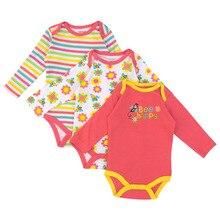 3pcs Cartoon Baby Bodysuit Girls & Boys
