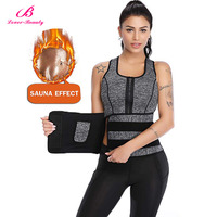Lover Beauty Hot Shapers Neoprene Sauna Waist Trainer Vest Workout Shaperwear Slimming Adjustable Sweat Belt Fajas Body Shaper A
