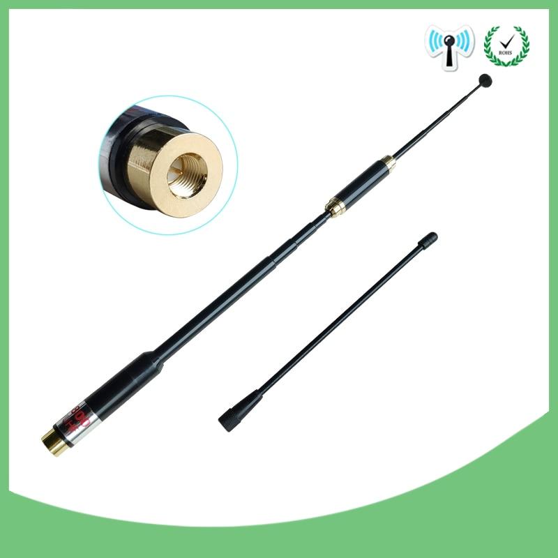 2pcs SMA-Male Telescopic Antenna dual band for walkie talkie BAOFENG UV-3R TONFA 985 TYT TH-F5 Yaesu VX-3R/6R/7R two-way radio