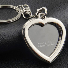 3 Style Photo Keyring Picture Frame And Mirror Plus font b Personalised b font Keychain Gifts