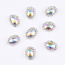 10pcs Crystal nail stone strass nail art 3d charms crystals diamond jewelry rhinestones for nails decoration new arrive Y1252