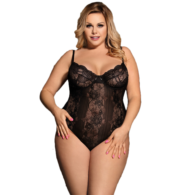 Combinaison Femme Black Sheer Lace Bodyduit   Jumpsuits   Rompers Transparent Backless Sexy Body Suits For Women Overalls R80536