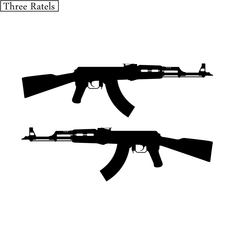 Three Ratels TZ-084 22*13.6cm 1-5 Pieces AK 47 Rifle Vinyl Car Sticker Decal Jdm Car Stickers