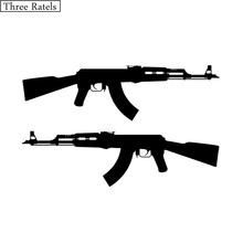 Três ratels TZ-084 22*13.6cm 1-5 peças ak 47 rifle vinil adesivo do carro decalque jdm adesivos de carro