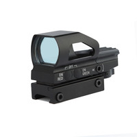 Optics Hunting 1x23x34 Red And Green Dot Sight Scope With Quick Release 20mm Weaver Mount Base