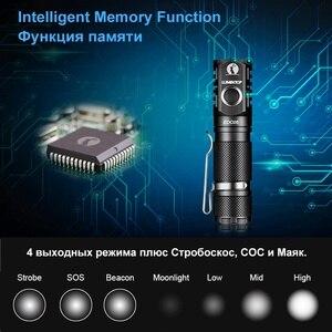 Image 5 - لومينتوب EDC05 مصباح يدوي 800 لومينز كري XP L Led مصباح يدوي صغير مع قوة الذيل المغناطيسي بواسطة AA/14500 بطارية IP68 حماية