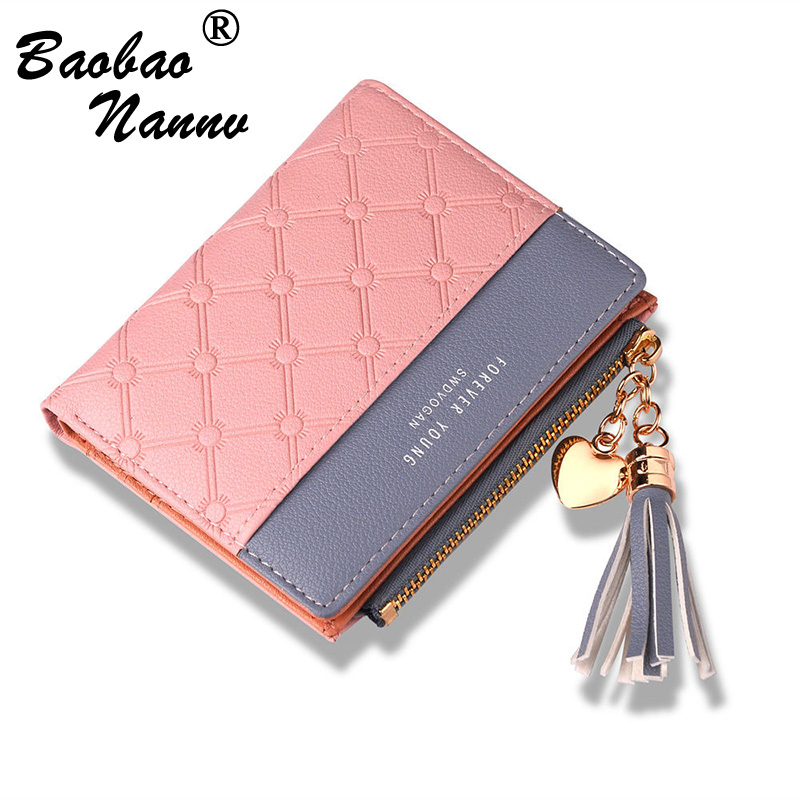 New Leather Small Wallet Women Luxury Patchwork Hasp Mini Women Wallets Purses Female Short Coin Zipper Purse Credit Card Holder