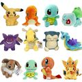 "9 Style 5.5"" Pocket Monster Plush Toys Cute Soft Toy Cartoon Pocket  Anime Pikachu Plush Doll Toys For kids toys Christmas Gift"