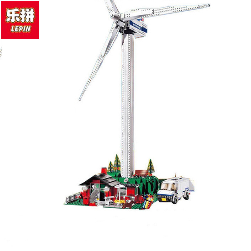 LEPIN 37001 Creative Series The Vestas Windmill Turbine Set Children Building Blocks Bricks Educational Toys Model Gifts lepin 02020 965pcs city series the new police station set children educational building blocks bricks toys model for gift 60141