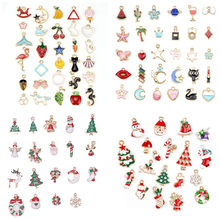 1pack Mix Style Kawaii Mixed Enamel Beads Pendants Charms Craft For DIY Decoration Neckalce Earring Key Chain Jewelry Making(China)