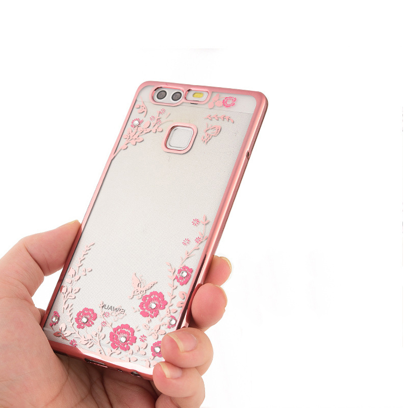 For Huawei Honor 8 Case Luxury Flowers Plating Silicone Case for Huawei Honor 6 6plus 5 4A 3C 4C 5C 4X 5X Enjoy 5 5s Case Cover