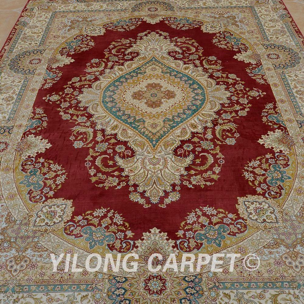 Prodaje se Yilong 5.5'x8 'ručni čipkasti tepih crvena ručno - Tekstil za kućanstvo - Foto 4