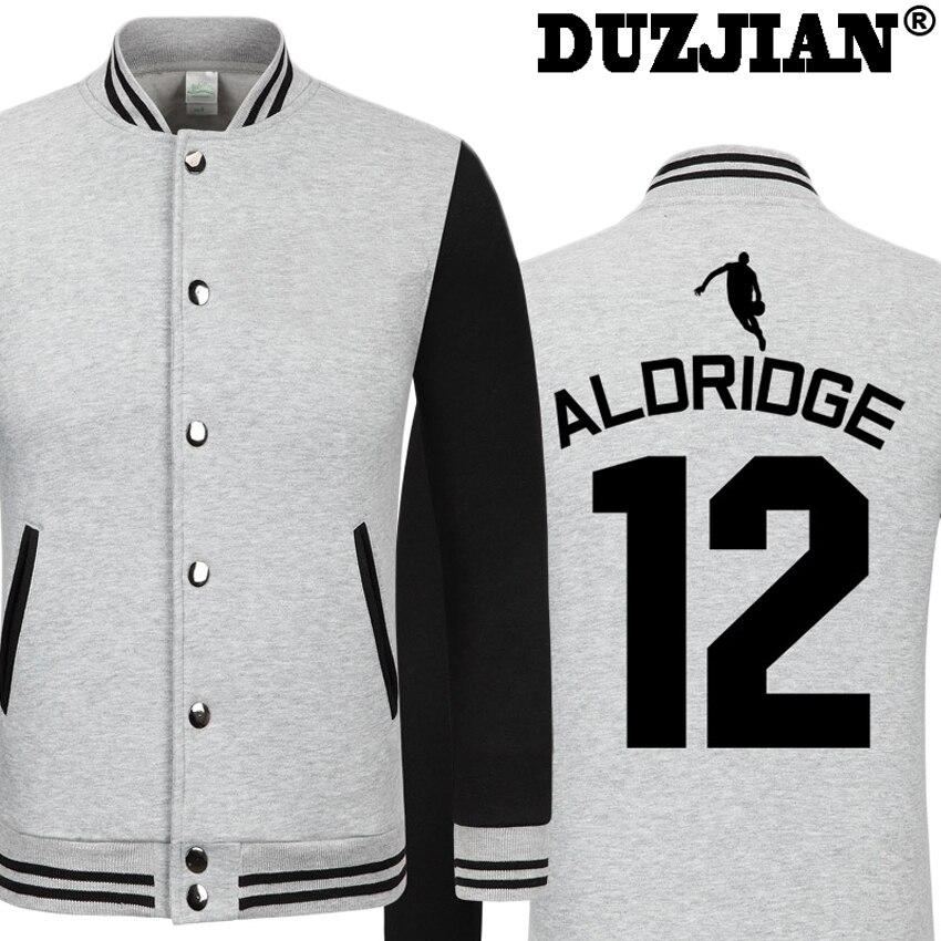 DUZJIAN Spring new Spur LaMarcus Aldridge casual jacket Big Fundamental cheap men winter jackets male coat boys jacket hip hop