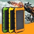 6000 mah Painel Solar 2A 1A Carregador de Telefone Banco Do Poder de Bateria Externo Portátil nova chegada