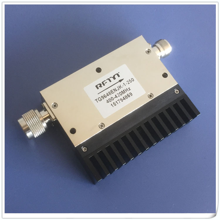 400-420MHz high power coaxial RF dual junction isolator high isolation isolator