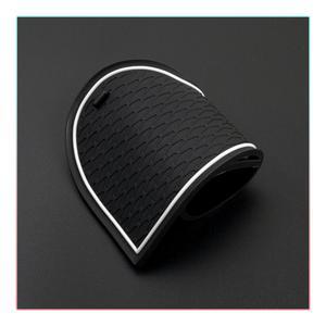 Image 5 - RUIYA esteras con surcos para puerta de coche, almohadillas antideslizantes para puerta de coche, accesorios de Interior de coche, 12 Uds., rojo/blanco, para Polo MK6 2018 2019