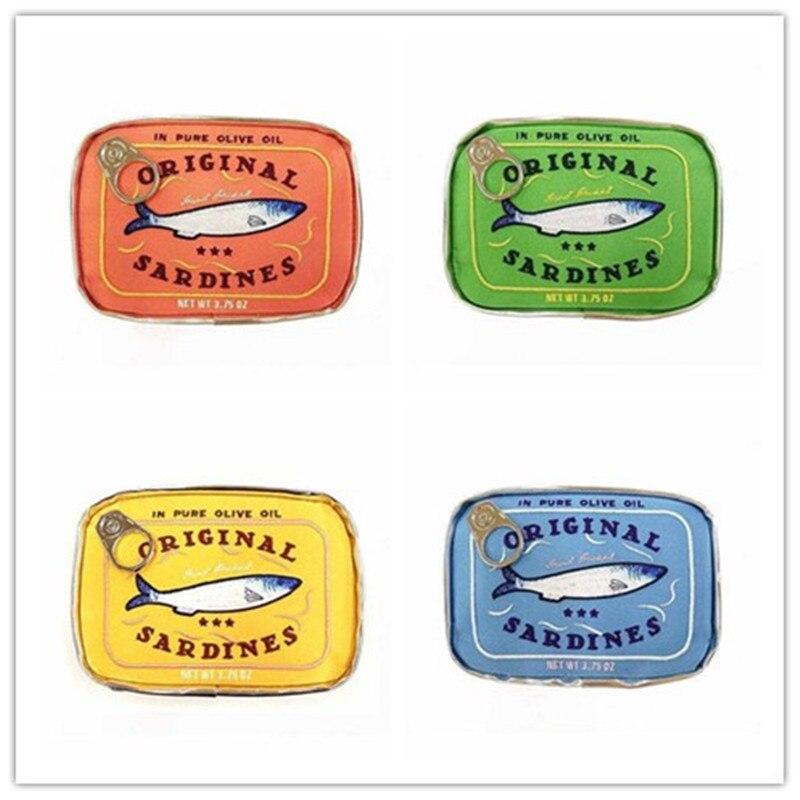 New Retro Style Bags Canned Sardines Makeup Cosmetics Bag Beautiful Animal Room Portable Travel Bag Women Handbags