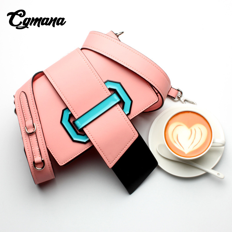 CGmana Bags For Women 2018 High Quality Genuine Leather Bag Shoulder Bags Woman Famous Brand Luxury Handbags Women Bags Designer burminsa brand winter round saddle genuine leather bags smiley designer handbags high quality shoulder crossbody bags for women