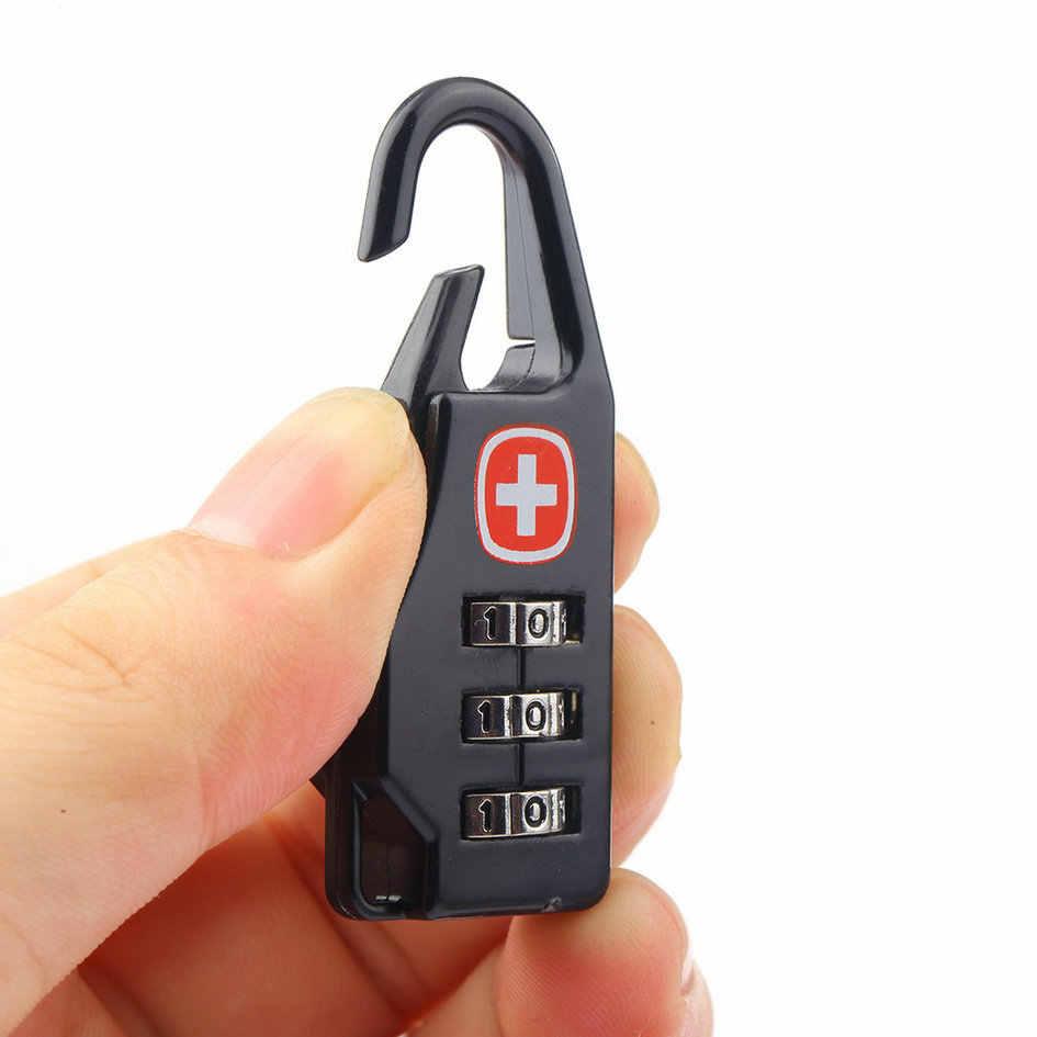 1 pièces combinaison suisse coffre-fort Code numéro serrure cadenas pour bagages fermeture éclair sac sac à dos sac valise tiroir armoire 20