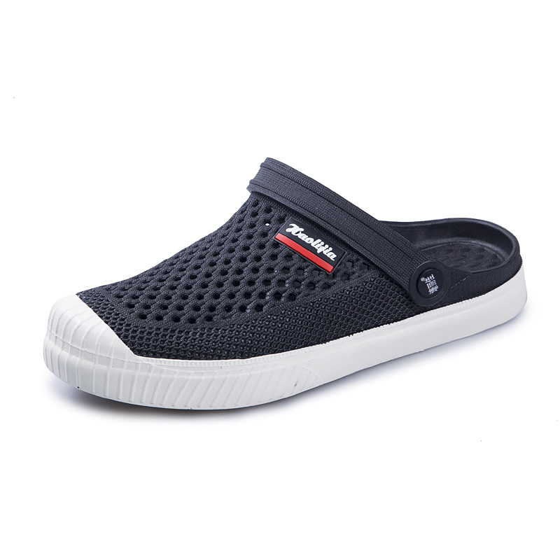 Men Slippers 2019 Fashion Confortable Rubber Shoes Slip-on Breathable Lazy Flat 40-44 Male Shoes Flip Flop Adult  Beach Shoes
