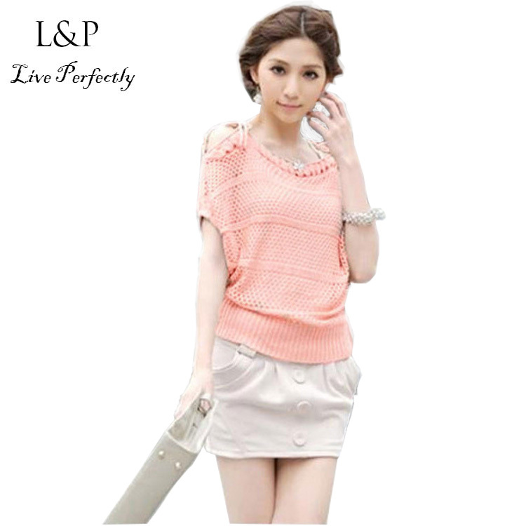 Růžové bílé háčkování blusas femininas 2018 Blůzy a košile s dlouhým rukávem plus velikosti Body Women Tops Polyester 234