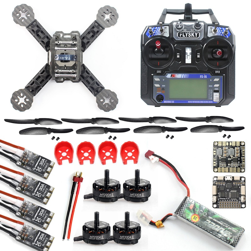 JMT DIY Toys FS-i6 Controller iA6 Receiver RC FPV Drone Mini Racer Quadcopter 190mm fpv f3 Carbon Fiber Racing Frame Kit