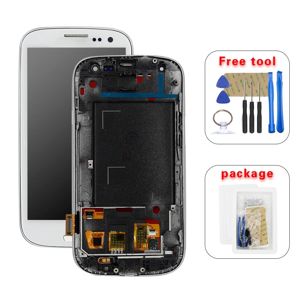 100% Test For Samsung Galaxy S III i9300 i9300i S3 i9301 i9301i i9305 LCD Full Screen Display Toque Digitador Assembléia