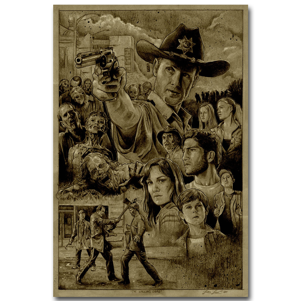 The Walking Dead TV Show Art Silk Poster Daryl 13x20 24x36 inch Home Decor 023