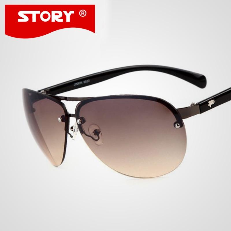 HISTÓRIA Da Moda de Design Da Marca Dos Homens de Condução Óculos De Sol  Lente Gradiente Barato Dos Homens Óculos de Sol gafas de sol oculos uv400  HISTÓRIA 30830631af
