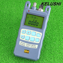 KELUSHI All-in-one Fibra medidor de potencia óptica-70 a 10dBm1mw 5 km Visual Fibra Óptica Cable Tester Localizador de fallas de FTTH Probador Herramienta