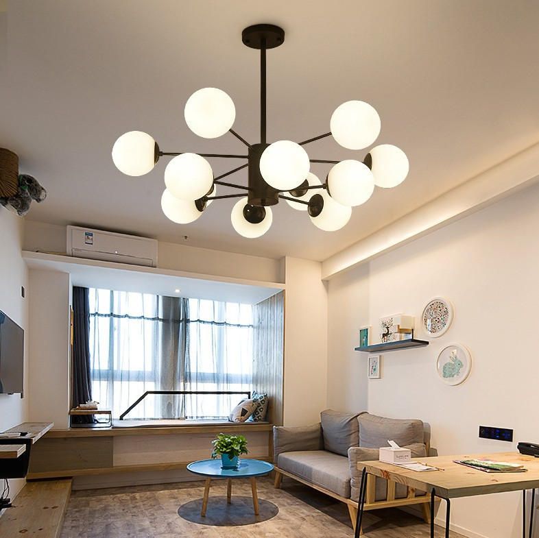 Magic Beans Ceiling Light Modern Glass Bubble Ceiling Hanging Luminaire Glass Ball Ceiling Lamp Fixture for Living Room Bedroom