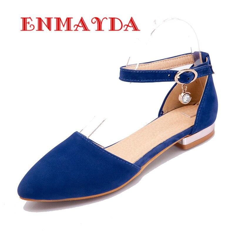 ENMAYDA Spring Autumn Flats Shoes Big Sizes 34 43 Casual font b Women b font Shoes