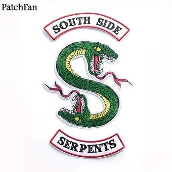 13c4236e 20 unids/lote Patchfan TV-SHOW RIVERDALE serpientes de Southside apliques  parche pegatinas diy de coser camisa de chaqueta placas de hierro en A1132