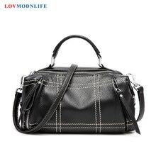 Luxury Tote Bags For Women Handbags Female Crossbody Shoulder Bag Woman Soft Genuine Leather Black Ladies Hand Bags 2019 Summer недорого