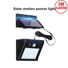 30 led 500LM Waterproof PIR Motion Sensor Solar Garden Light Outdoor LED Lamp 3 Modes Security Pool Door patio deck fence