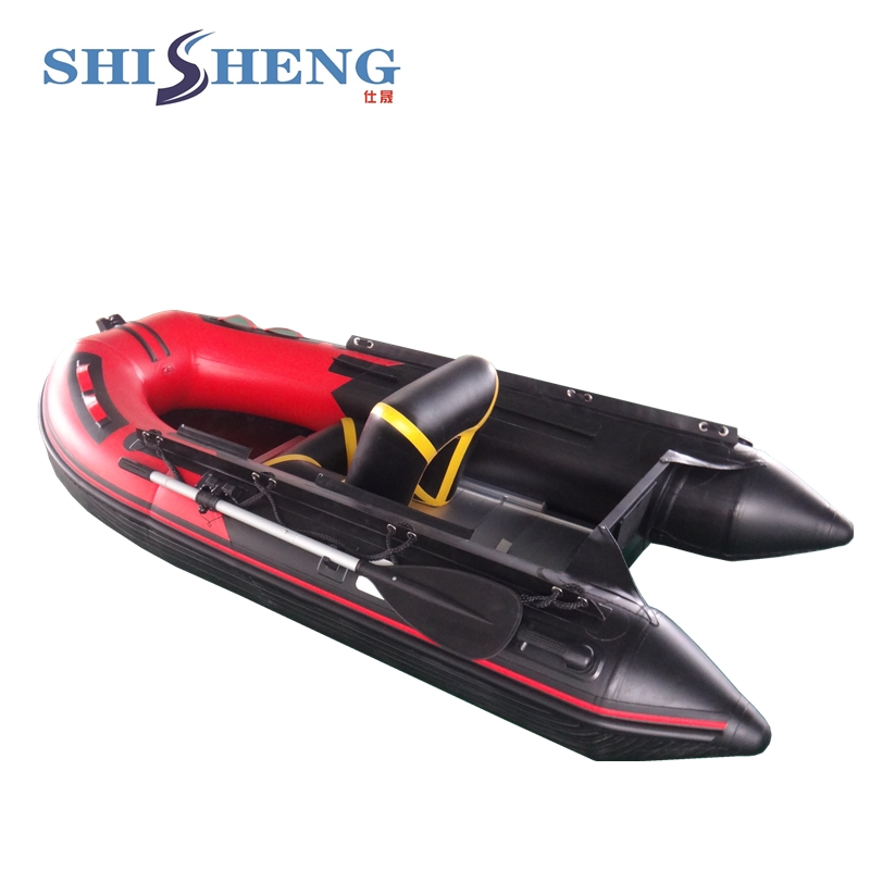 Chinese Hard ALuminum Floor PVC Material Inflatable Boat with CE Certificate 2017 aluminum floor inflatable folding boat 300cm army green and black for sale
