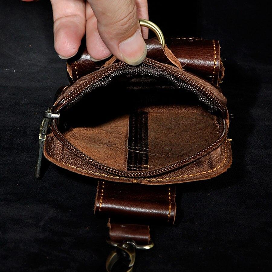 Män Cowhide Äkta Läder Fanny Midja Hängare Bältehållare Ficka - Bälten väskor - Foto 6