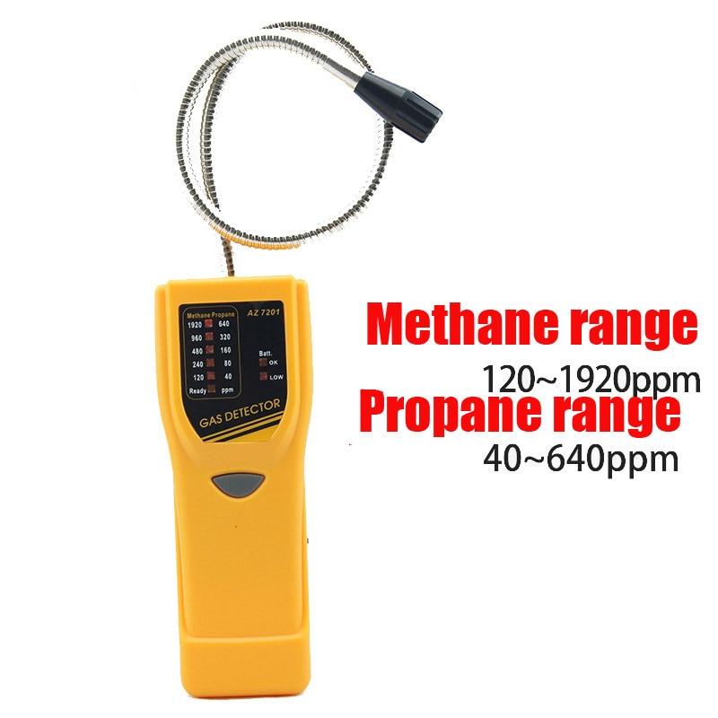 AZ7201 portable highly sensitive combustible gas detector Methane / propane gas tester leak detector portable combustible gas detector natural gas methane gas leakage alarm detector