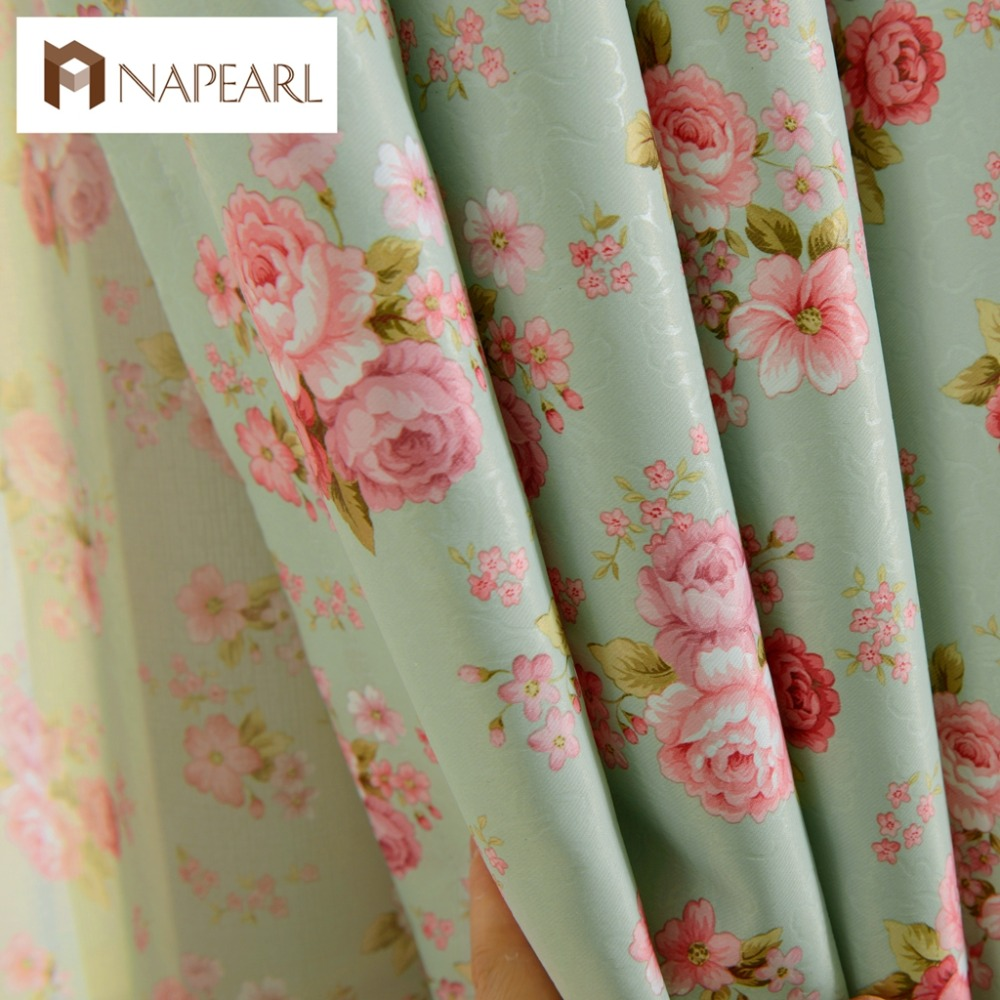 NAPEARL 1 Piece Short Window Curtains For Bedroom Treatment Drapery Floral Design Rustic Blackout Tulle Curtains Girl's Bedroom