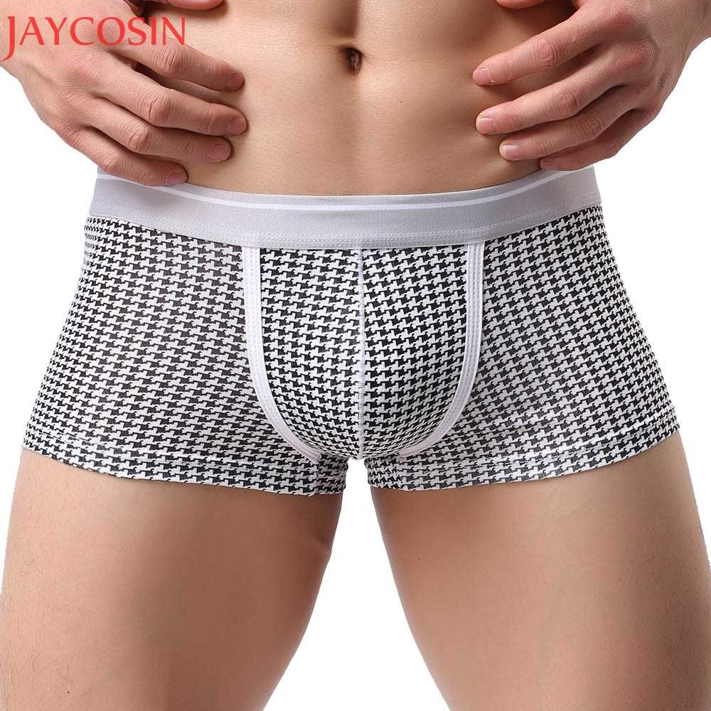 feedf8ad1218 Detail Feedback Questions about Plus Size M XL Sexy Lingerie Underwear Men  Breathable Plaid Panties Male Boxer Shorts Bulge Pouch Soft Underpants  Knickers ...