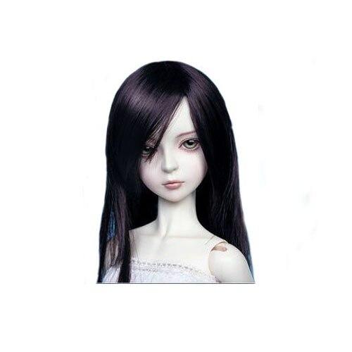 [wamami] 02# Black Straight Wig For 1/4 MSD DOD BJD Dollfie 7-8