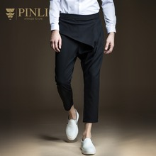 Free Shipping New fashion 2017 casual male Men's personalized Slim spring Pencil Haren ninth Pants Trousers B171217020 jeans