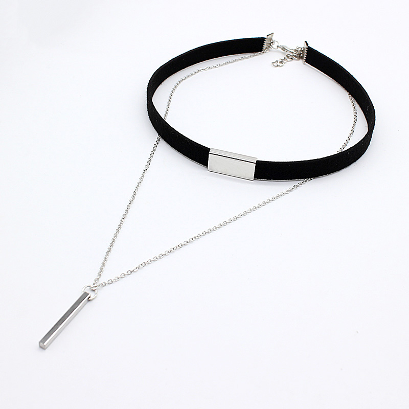 19 New hollow Designs Velvet Chokers Necklace Black Leather Rope Chain layer Chocker Vintage Jewelry for women Collier femme 32