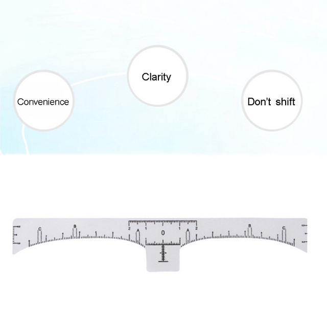 50pcs/lot Eyebrow Ruler Makeup Brow Measure Tool Eyebrow Guide Ruler Makeup Tools Tattoo Measurement Rulers Sticker 2