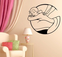 Massage Therapist Wall Decal Spa Salon Art Mural Stickers Girl Vinyl Masseuse Home Removable Fallow DIY Decor  SYY573